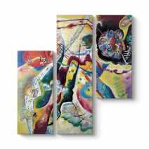 Wassily Kandinsky - La Tache Rouge Tablosu
