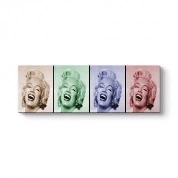 Marilyn Popart Panorama Tablo