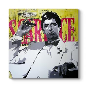 Al Pacino - Scarface Vintage Tablosu