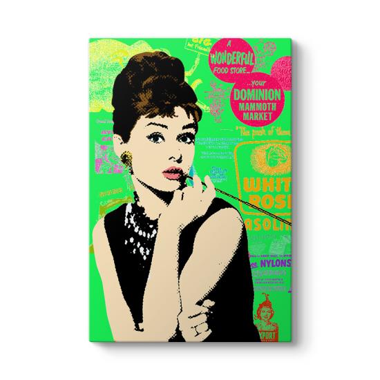 Audrey Hepburn Popart Tablosu