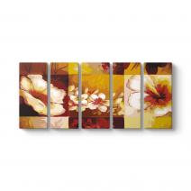 Vektörel Çiçekler Tablo