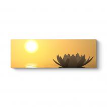 Gün Batımı Nilüfer Çiçeği Tablosu