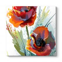 Çizgisel Çiçekler Tablosu