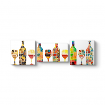 Dekoratif Şişeler Panorama Tablo