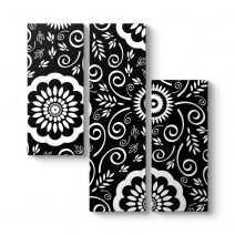 Black And White Pattern Tablosu