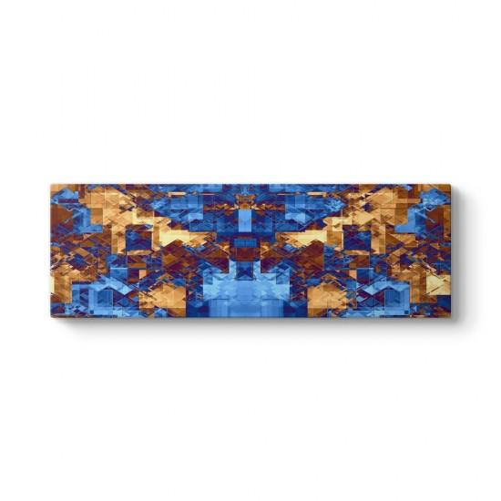Mavi Piksel Panorama Tablo