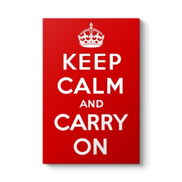 Keep Calm And Carry On Tablosu