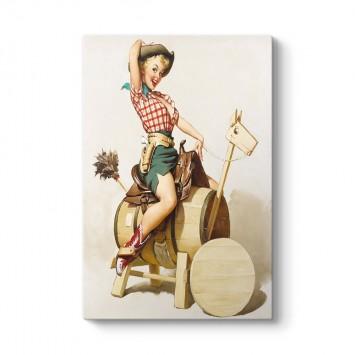 Cowgirl Pinup Tablosu