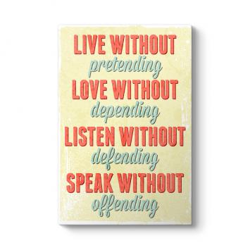 Live Love Listen Tablosu