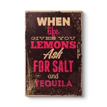 Limon Tuz ve Tekila Tablosu