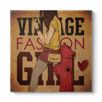 Vintage Fashion Girl Tablosu