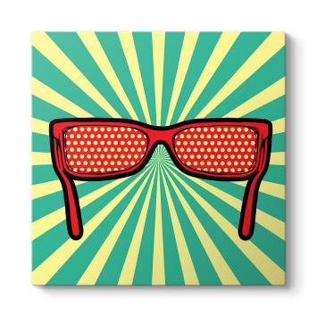 Pop Art Gözlük Tablosu