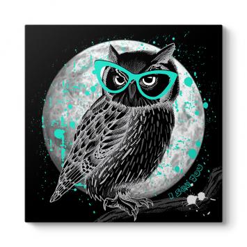 Yeşil Gözlüklü Baykuş Tablosu
