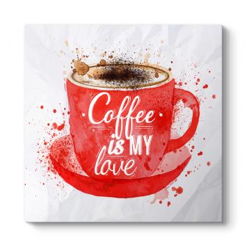 Kahve Aşkı Çizim Tablosu