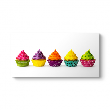 Renkli Cupcake Tablosu