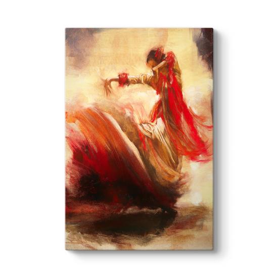 Soyut Flamenko Dansçısı Tablosu