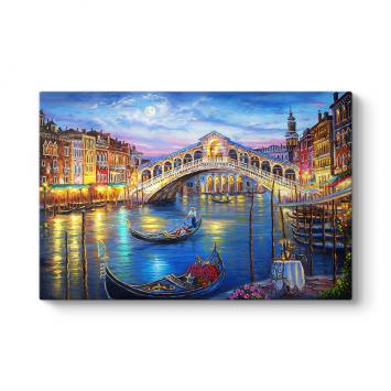 Venedik'te Romantik Gece Tablosu
