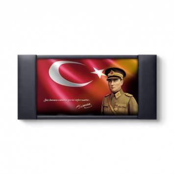 Atatürk Üniformalı Makam Panosu