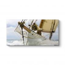 Dalgalı Denizde Yelkenli Tablosu