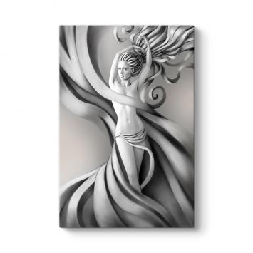 Gümüş Saçlı Kadın Tablosu