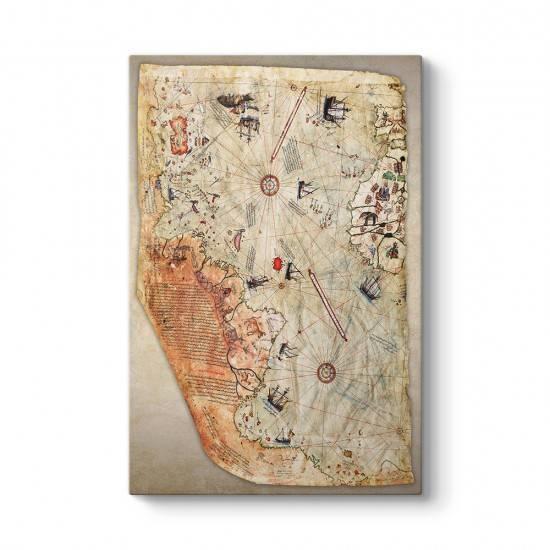 Piri Reis Dünya Haritası Kanvas Tablo