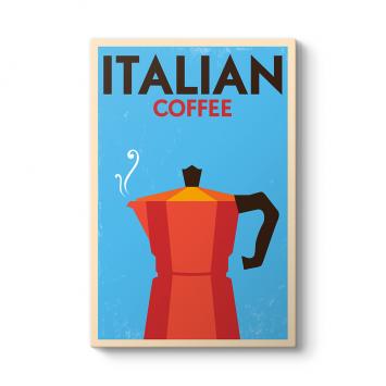İtalyan Kahvesi Vintage Tablo