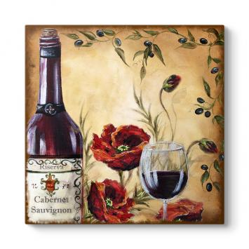 Gelincikler ve Kırmızı Şarap Tablosu