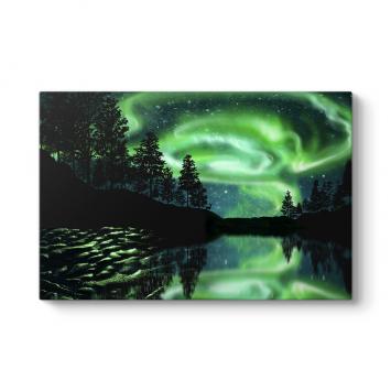 Aurora Manzarası Tablosu