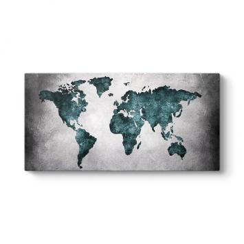 Dünya Haritası Duvar Tablosu