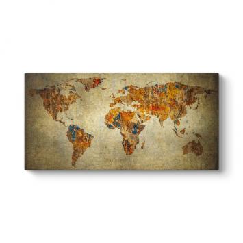 Eskitme Dünya Haritası Tablosu