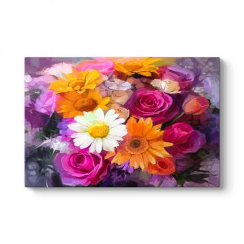 Güller ve Papatyalar Tablosu
