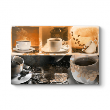 Kahve Fincanları Kolaj Tablosu