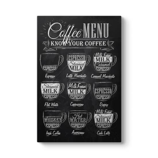 Kahve Menüsü Tablosu