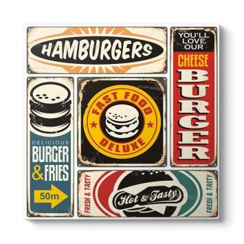 Kolaj Hamburger Tablosu