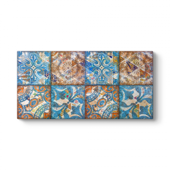 Mavi Mozaik Desenler Tablosu