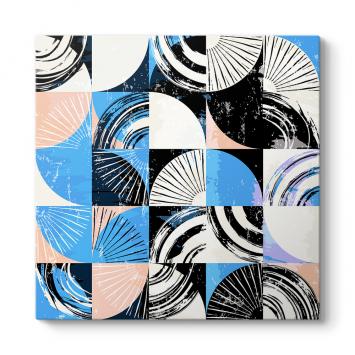 Mavi Mozaik Tablosu