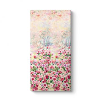 Pembe Güller Bahçesi Tablosu