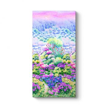 Rengarenk Çiçek Bahçesi Tablosu
