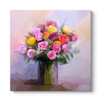 çiçek Tabloları çiçek Resimli Ve Desenli Kanvas Tablo Modelleri