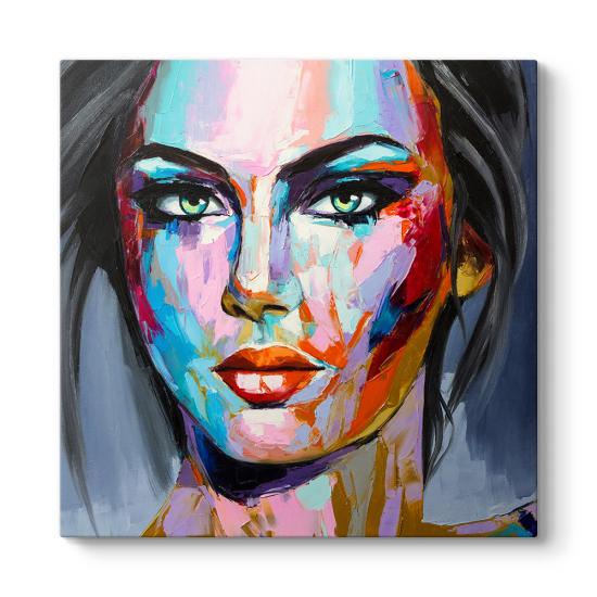 Renkli Kadın Yüzü Tablosu