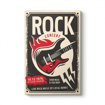 Rock Konseri Afiş Tablosu