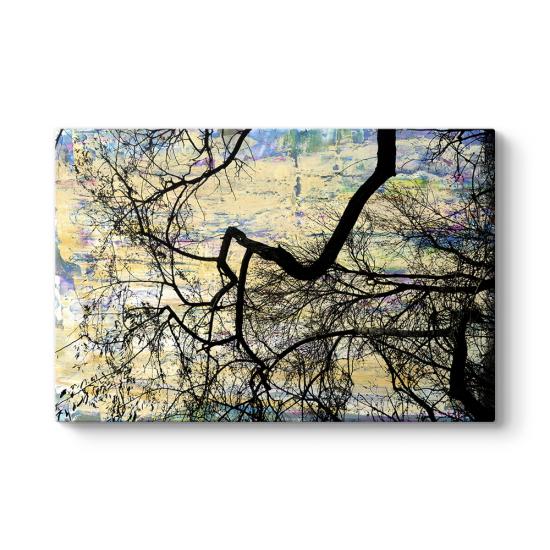 Sanatsal Ağaç Dalları Tablosu
