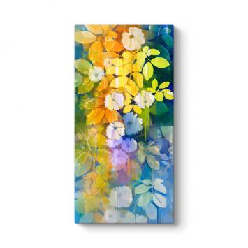Sanatsal Çiçek Dalları Tablosu