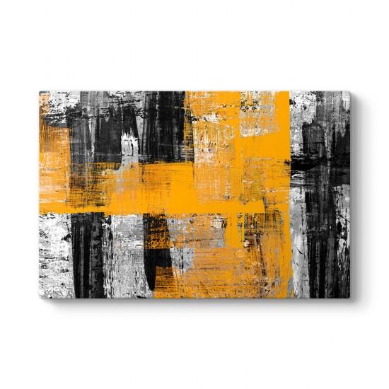 Sarı Duvar Sanatı Tablosu