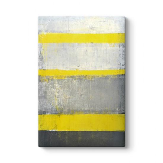 Sarı Gri Çizgiler Tablosu