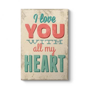Seni Tüm Kalbimle Seviyorum Tablosu