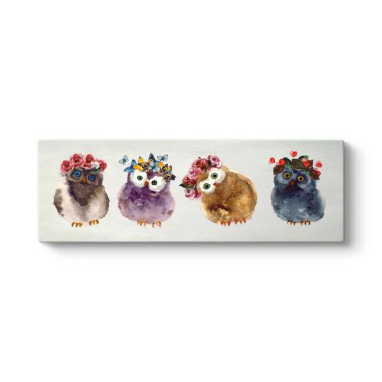 Sevimli Baykuş Yavruları Tablosu
