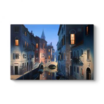 Venedik Gece Işıkları Tablosu