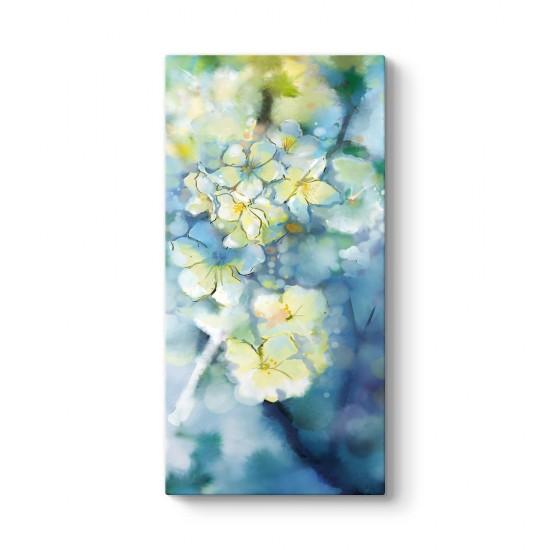Soyut Çiçek Dalları Tablosu