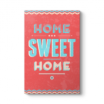 Vektörel Home Sweet Home Tablosu